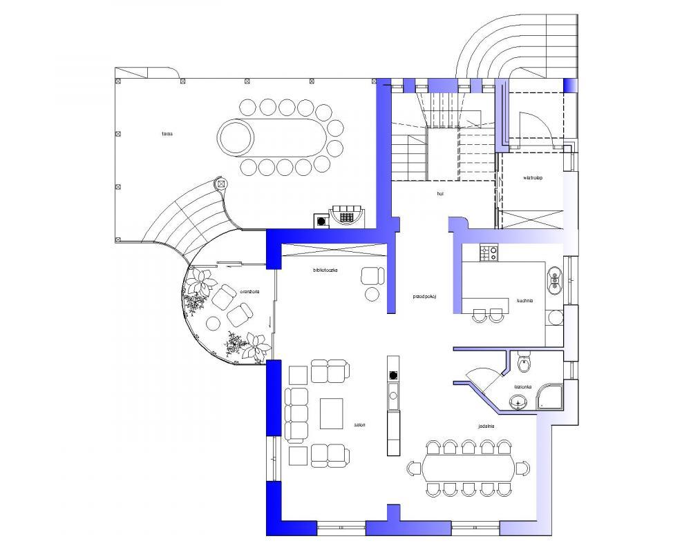 Projekt - Rzut I piętra