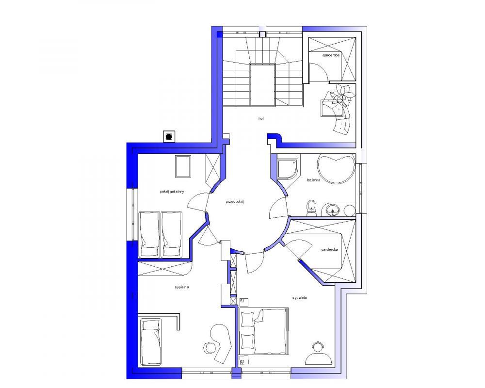 Projekt - Rzut II piętra